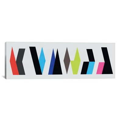 iCanvasArt Modern Art Six Chunk Logo Graphic Art on Canvas