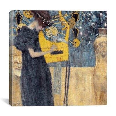 """iCanvasArt """"Musik 1895"""" Canvas Wall Art by Gustav Klimt"""