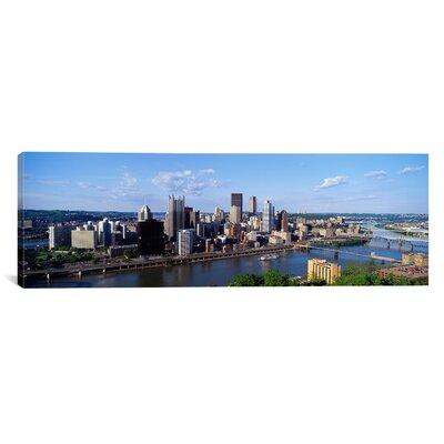 iCanvasArt Panoramic Monongahela River, Pittsburgh, Pennsylvania Photographic Print on Canvas