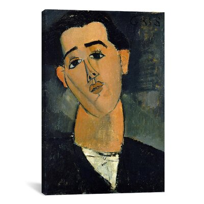 iCanvasArt Fine Art 'Portrait of Juan Gris' by Amedeo Modigliani Painting Print on Canvas