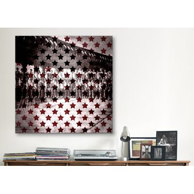 iCanvasArt Miss America 1956 Stars Graphic Art on Canvas in Red