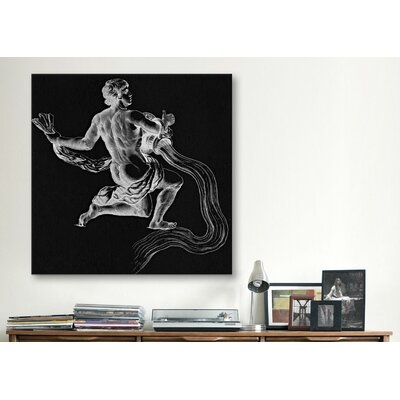 iCanvasArt Astronomy and Space Water Bearer (Aquarius) Graphic Art on Canvas in Black