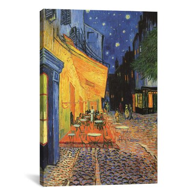 iCanvasArt 'The Cafe Terrace on the Place du Forum, Arles, at Night 1888' by Vincent Van Gogh Painting Print on Canvas