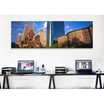 iCanvasArt Panoramic Massachusetts, Boston, Copley Square Photographic Print on Canvas