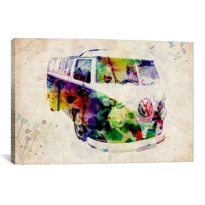 iCanvasArt 'VW Camper Van (Urban)' by Michael Tompsett Graphic Art on Canvas