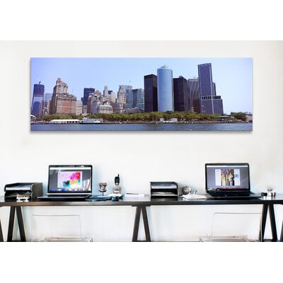 iCanvasArt Panoramic 'Lower Manhattan, Manhattan, New York City, 2011' Photographic Print on Canvas