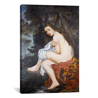 iCanvasArt 'The Surprised Nymph' by Edouard Manet Painting Print on Canvas