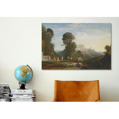 iCanvasArt 'The Temple of Jupiter Panellenius Restored' by Joseph William Turner Painting Print on Canvas