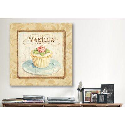 """iCanvasArt """"Sweet Cupcakes (Vanilla)"""" Canvas Wall Art by Lisa Audit"""