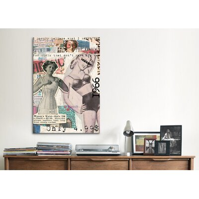 iCanvasArt 'Vintage Fashion #5' by Luz Graphics Graphic Art on Canvas
