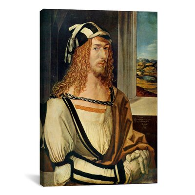 iCanvasArt 'Self-portrait' by Albrecht Dürer Painting Print on Canvas