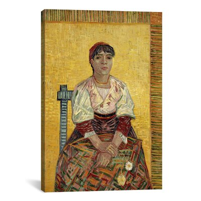iCanvasArt 'The Italian Woman' by Vincent Van Gogh Painting Print on Canvas