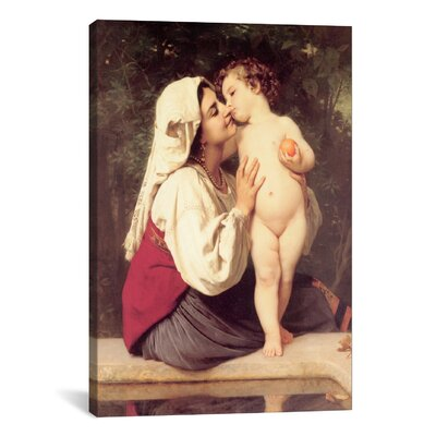 iCanvasArt 'The Kiss (Le Baiser)' by William-Adolphe Bouguereau Painting Print on Canvas