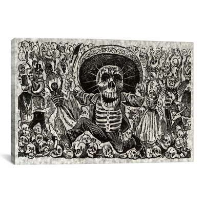 iCanvasArt 'Skeletons - Calavera from Oaxaca' by José Guadalupe Posada Painting Print on Canvas