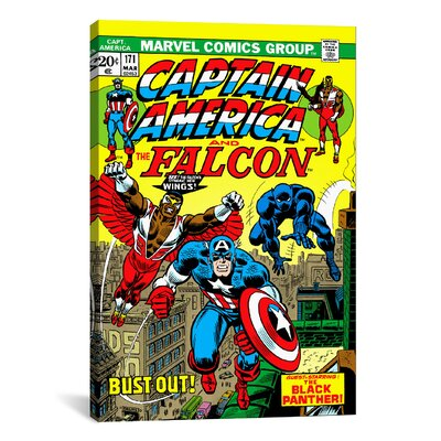 iCanvasArt Marvel Comics Captain America and The Falcon Issue Cover #171 Graphic Art on Canvas