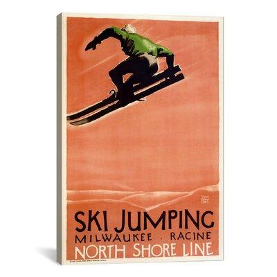 iCanvasArt Ski Jumping (Milwaukee - Racine) Vintage Advertisement on Canvas