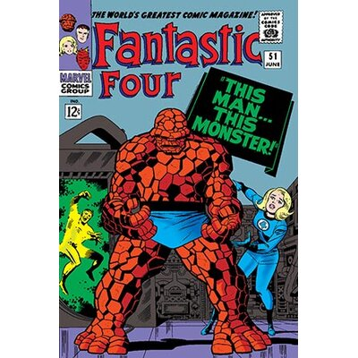 iCanvasArt Marvel Comics Fantastic Four Cover Issue Cover #51 Graphic Art on Canvas