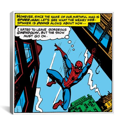 iCanvasArt Marvel Comics Spiderman Panel Art D Graphic Art on Canvas