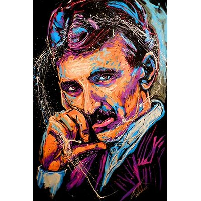 iCanvasArt Nikola Tesla 003 Canvas Wall Art by Rock Demarco