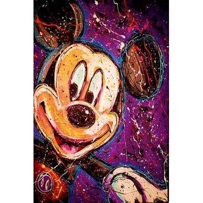 iCanvasArt Mickey Canvas Wall Art by Rock Demarco