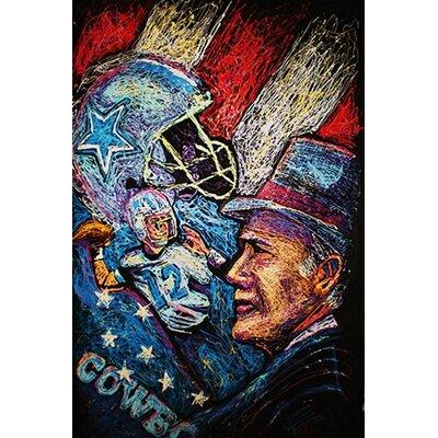 iCanvasArt Dallas Cowboys 001 Canvas Print Wall Art