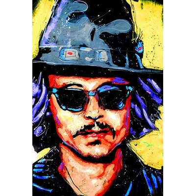 iCanvasArt Depp Art 002 Canvas Print Wall Art