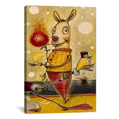 iCanvasArt 'Sparkle Bunny' by Daniel Peacock Painting Print on Canvas