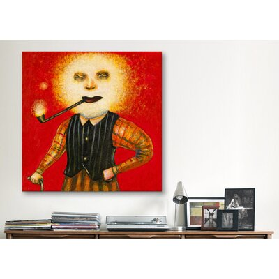 iCanvasArt 'Puff Daddy' by Daniel Peacock Painting Print on Canvas