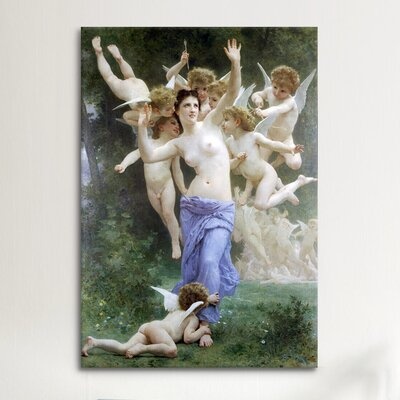 iCanvasArt 'Le Guepier - the Wasps Nest' by William-Adolphe Bouguereau Painting Print on Canvas