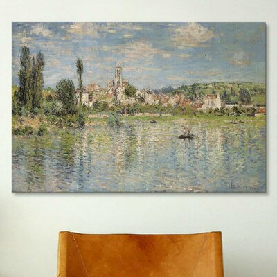 iCanvasArt 'Vetheuil in Summer 1880' by Claude Monet Painting Print on Canvas