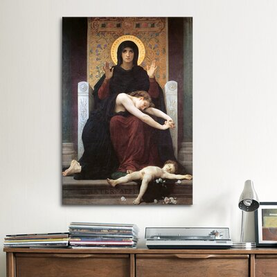 iCanvasArt 'Virgin Comforter' by William-Adolphe Bouguereau Painting Print on Canvas