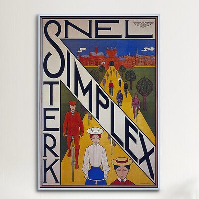 iCanvasArt Snel Simplex Bicycle Vintage Advertisement on Canvas