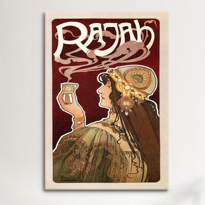 iCanvasArt Rajah (coffee) Advertising Vintage Poster Canvas Print Wall Art