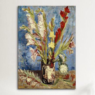 iCanvasArt 'Vase with Gladioli and China Asters, 1886 ll' by Vincent Van Gogh Painting Print on Canvas
