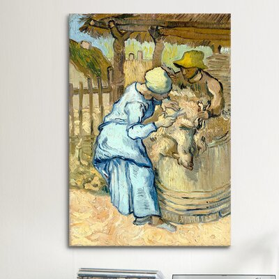 iCanvasArt 'The Sheep-Shearer (After Millet)' by Vincent Van Gogh Painting Print on Canvas