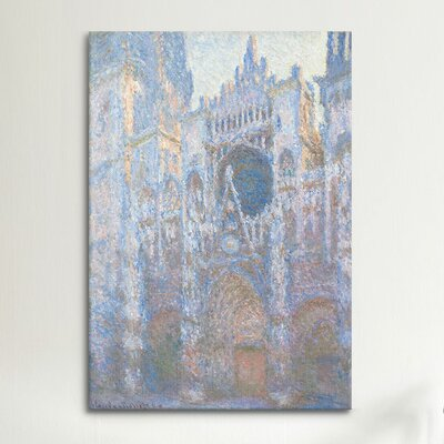 iCanvasArt 'Rouen Cathedral II' by Claude Monet Painting Print on Canvas