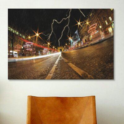 iCanvasArt 'Elysee Storm' by Sebastien Lory Photographic Print on Canvas