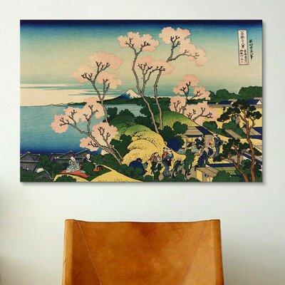 iCanvasArt 'Goten-yama-hill, Shinagawa on the Tokaido' by Katsushika Hokusai Painting Print on Canvas