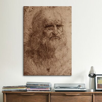 iCanvasArt 'Self-Portrait 1515' by Leonardo Da Vinci Painting Print on Canvas
