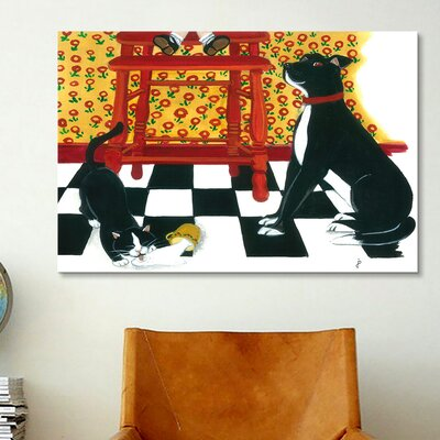 iCanvasArt High Chair by Jan Panico Painting Print on Canvas