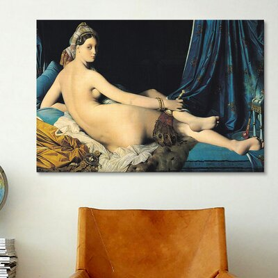 iCanvasArt 'Grande Odalisque' by Jean Auguste Ingres Painting Print on Canvas