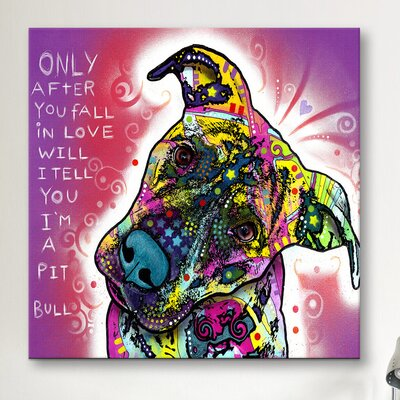 iCanvasArt 'I'm a Pit Bull' by Dean Russo Graphic Art on Canvas