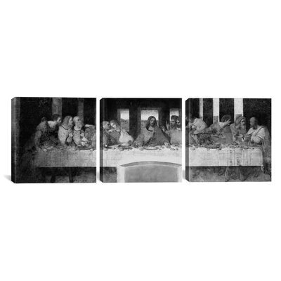 iCanvasArt Leonardo da Vinci The Last Supper II 3 Piece on Canvas Set