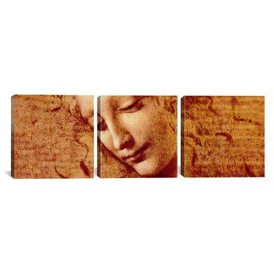 iCanvasArt Leonardo da Vinci Female Head 3 Piece on Canvas Set