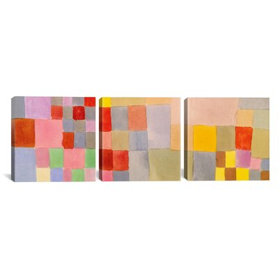 iCanvasArt Paul Klee Flora on The Sand 3 Piece on Canvas Set