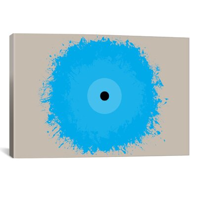 iCanvasArt Modern Art Cool Blue Graphic Art on Canvas