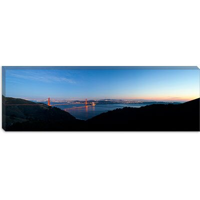 iCanvasArt Golden Gate Bridge from Hawk Hill, San Francisco, California Canvas Wall Art