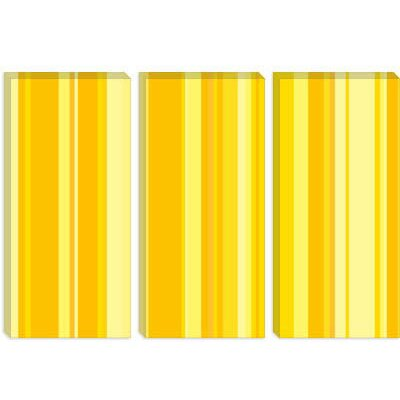 iCanvasArt Banana Orange Milkshake Striped Canvas Wall Art