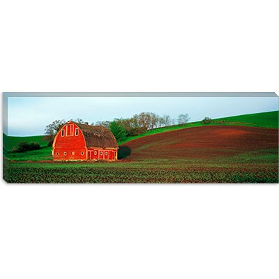 iCanvasArt Barn in a Field at Sunset in Palouse, Washington Canvas Wall Art