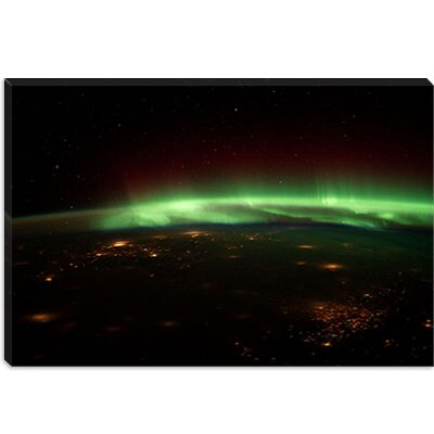 iCanvasArt Aurora Borealis Canvas Wall Art